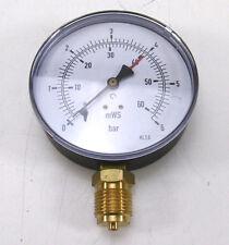 "100 mm MANOMETER Senkrecht 0 bis 6 bar 0 bis 60 mWS G 1/2"""