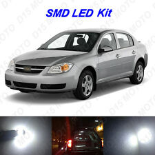 6 x White LED interior Bulbs + License Plate Lights for 2005-2010 Chevy Cobalt