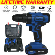 21V Cordless Drill Electric Screwdriver Wireless Power Driver with 29Pc Bits Set