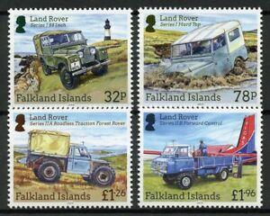 Falkland Islands Cars Stamps 2019 MNH Land Rovers Rover 4v Set
