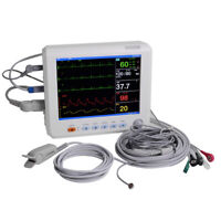 US Medical 12 Inch Vital Sign ICU CCU Patient Monitor ECG NIBP RESP TEMP SPO2 PR