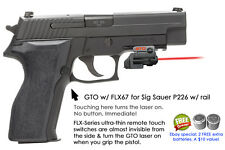 ArmaLaser GTO for SIG Sauer P226 w/ Rail - RED Laser Sight w/ FLX67 Grip Touch