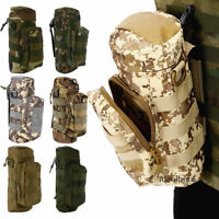 Military MOLLE Tactical Travel Water Bottle Kettle Pouch Carry Bag Case Outdoor