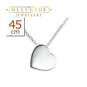Womans Sterling Silver Heart Pendant Necklace- Gift Boxed