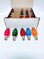 C-9 Christmas Light Replacement Bulbs Multi Color Lights 25 Bulbs