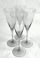 Wedgwood England lead crystal gray Champagne flutes [set of 4], 8.75 inches