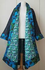KENZO X H&M Kimono jacket coat reversible silk Wendekimono Seide Größe size S