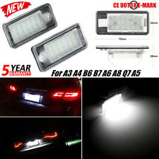 2x18SMD LED Number License Plate Light Canbus Error Free For Audi A3 A4 A6 A8 Q7