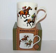 Horse Racing Jockey Fine China Mug - 'Winning Post' Shergar Red Rum Nijinsky