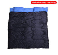 Outsunny Camping Travel Sleeping Bag Sleep Cozy Thick Warm Outdoor Double Adult
