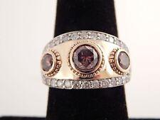Custom 2.80 tcw Deep Fancy Brown & White Diamond 3 Stone 14k Engagement Ring
