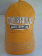 CATERPILLAR CAT Yellow Baseball Hat Cap Snapback Spellout 100% Cotton