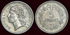 "FRANCE 5 francs 1947 open ""9"" ouvert"