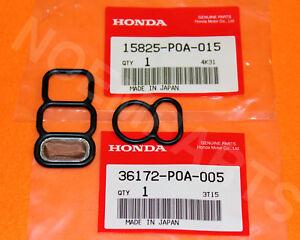 NEW Genuine OEM 94-02 Honda Accord 4cyl UPPER & LOWER VTEC Valve Solenoid Gasket