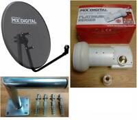 80cm Mix Digital Mesh Satellite Dish, Single MD-1 0.1dB LNB and 250mm Wall Mount
