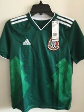 Adidas México Home Green White Soccer Jersey Russia 2018 Size YL Boy's Only