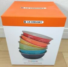 Le Creuset Cereal Bowl 460 ml Rainbow Color Collection Stoneware new set of 6