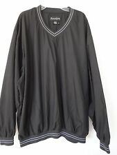 Men's FootJoy V-neck lightweight Golf Wind black jacket shirt size L net lining