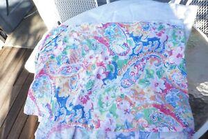 Vintage RL Ralph Lauren SPRINGDALE Floral Paisley Queen Bed Skirt/Dust Ruffle