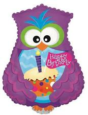 "Joyeux Anniversaire Hibou & cupcake en forme de Themed Party 23"" Foil Balloon!"