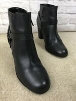 COLE HAAN Grand OS Black Leather Ankle Boots Womens Size 8