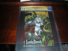 LADY DEATH ASHCAN #NN SS PHILLA CC COVER CGC 9.8 SIGNED BRIAN PULIDO ON 6/11/10