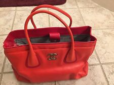 AUTHENTIC CHANEL RED EXECUTIVE CERF TOTE