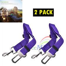 Pet Dog Car Vehicle Travel Safety Seatbelt Adjustable Harness Restraint PurpleX2