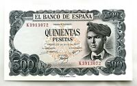 Spain-Billete. Jacinto Verdaguer, 500 Pesetas 1971. Madrid. Serie K. SC/UNC