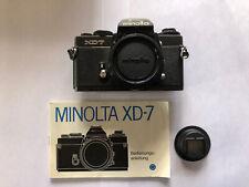 Minolta XD-7 XD7 schwarz 35mm Spiegelreflexkamera MD MC SR Sammlerstück TOP