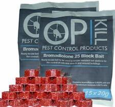 30 x 20g Rodent Bait Block Poison - Professional strength - Rat & Mouse Killer