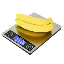 Digital Kitchen Scale 22lb/0.05 oz 10KG/1G LCD Stainless Steel Food Diet Weigh