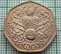 ISLE OF MAN 1982 20 PENCE, MEDIEVAL NORSE HISTORY, UNC