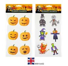 HALLOWEEN GEL WINDOW STICKERS Decoration Scary Blood Print Party Decal 976135 UK