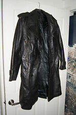 Derkon Fight Club Leather Jacket 38 DERKON LEATHER COAT 38 LEATHER TRENCH COAT