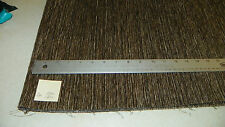 Brown Beige Stria Chenille Upholstery Fabric Remnant F1140
