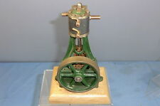 STUART TURNER  LIVE STEAM  MODEL OF A  VERTICAL  ENGINE & WOODPLINTH