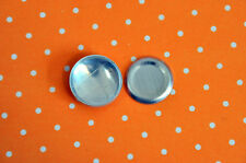 DIY 50 X Self Cover Metal Flat Back Buttons Size 30 19 Mm