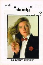 PUBLICITE ADVERTISING 034   1979   LE PARFUM DANDY   D'ORSAY