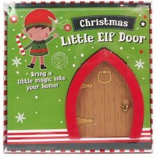 Elf Door Skirting Board Christmas Decoration Children Shelf Fairy Hobbit Garden