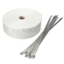 benda nastro bianca termica scarico marmitta collettori 10mx5cm + 10 fascette