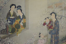 ANTIQUE CHINESE REPUBLIC PERIOD FRAMED PAINTING ON SILK GUANYIN IMMORTAL BOY 2