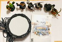 Nintendo Wii- 6 Characters- Skylanders Lot- With 1 Game and Game Portal.