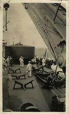 PHOTO ANCIENNE - VINTAGE SNAPSHOT - MILITAIRE BATEAU DIDEROT MARIN CUIRASSÉ 1926