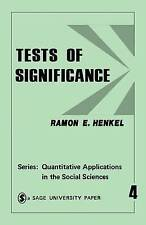 Tests of Significance (Quantitative Applications in the Social-ExLibrary