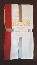 NEW Cynthia Rowley White Red Luxury Table Dinner Napkins Set of 4