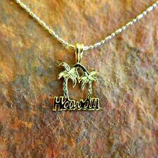 Pendant Hawaiian Jewelry (S) Sp94005 925 Gold Plated Palm Tree Hawaii