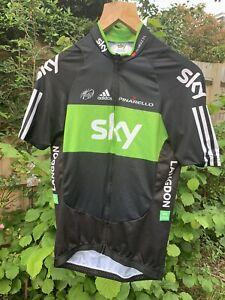 Team Sky Rainforest Adidas race issue jersey size 5 UK large Langdon