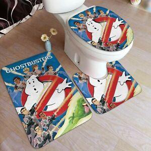 Moive Ghostbusters 3pcs Bathroom Rug Set 50*80 cm Bath Mat Home Decor Funny Gift