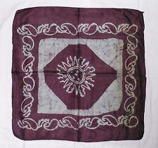 Small Square Ethnic Hippy Boho Batik Silk Scarf Made in India Aprox. 50cm (BT32)